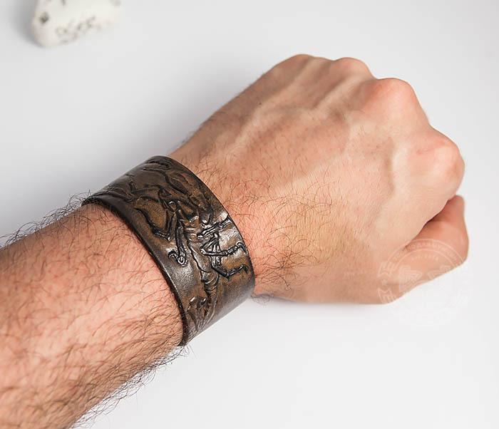 BL475 Мужской браслет со скорпионом ручной работы фото 06
