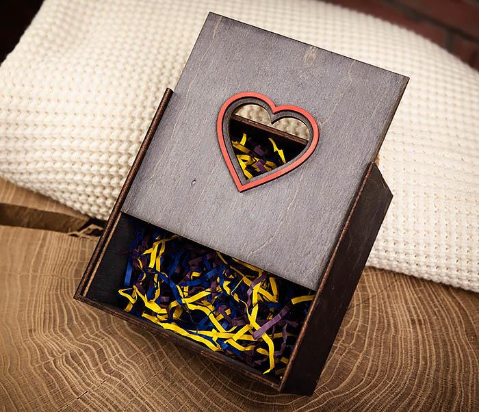 BOX210-1 Крупная подарочная коробка ко Дню святого Валентина (17*17*10 см) фото 04