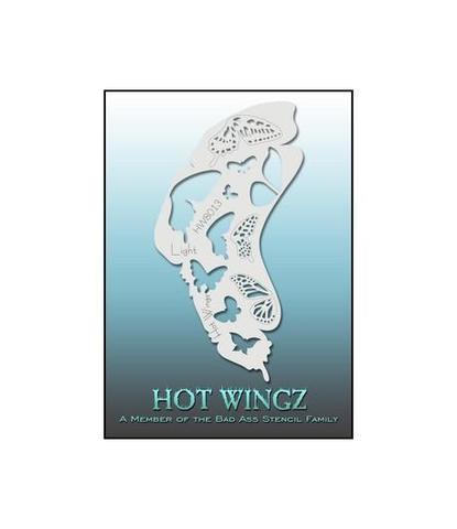 Трафарет Hot wings 8013