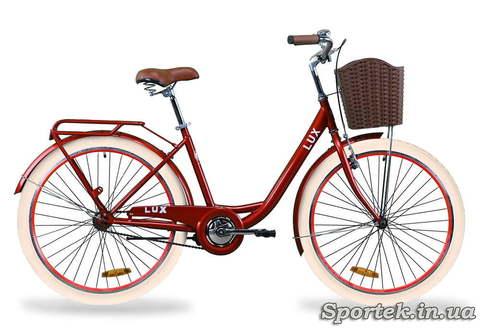 Городской универсальный велосипед Дорожник LUX (рубиновый)