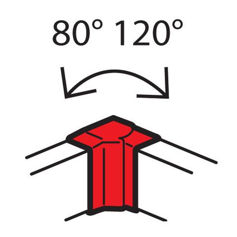 Кабель-канал 100x50 Изменяемые углы Внешний изменяемый угол, от 60° до 120°. Цвет Белый. Legrand Metra (Легранд Метра). 638031