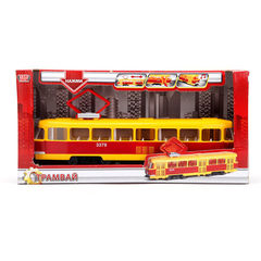 Трамвай СТ12-428-2 пластик, звук, свет, откр.двери