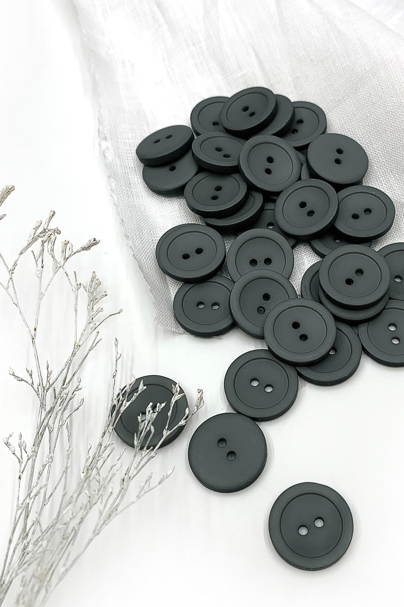 Пуговица, темно-серый,19 мм