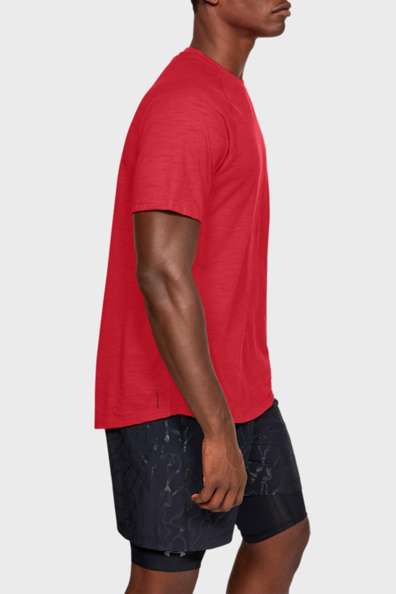 Мужская красная спортивная футболка Charged Cotton SS Under Armour