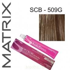 Matrix SOCOLOR.beauty: Extra-Coverage Gold 509G очень светлый блондин золотистый 100% покрытие седины, краска стойкая для волос (перманентная), 90мл