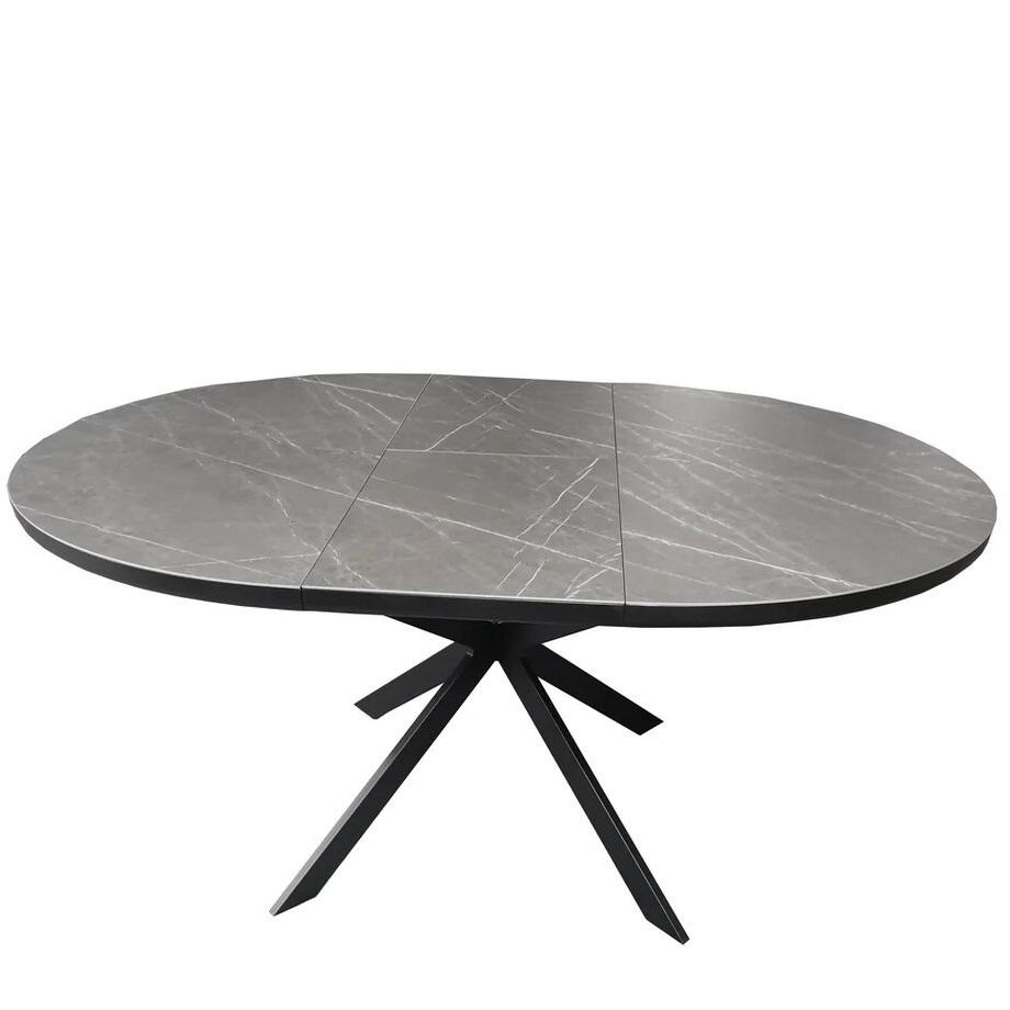 Стол обеденный Astra (120) Matt Black/Dark Gray (Черный Матовый/Темно-Серая Керамика)