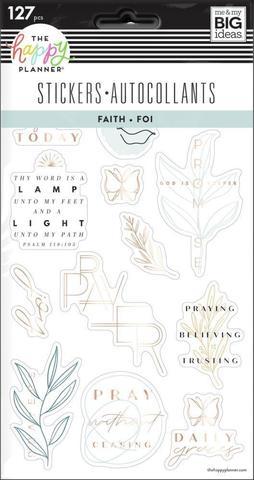 Блокнот со стикерами для ежедневника  Simple Faith - 5 Sticker Sheets -127шт