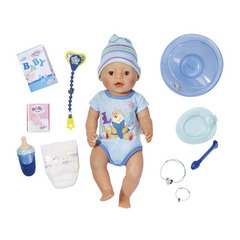 Zapf Creation Baby Born  Кукла-мальчик, интерактивная, 43 см (822-012)