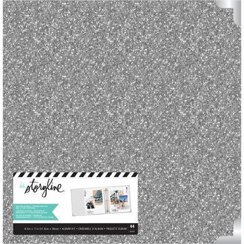 Альбом на кольцах для Project Life ( для файлов 22х28 см) Heidi Swapp Storyline 3D-Ring Album  -Silver Glitter