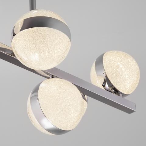 Подвесной светодиодный светильник с пультом управления 90173/10 хром