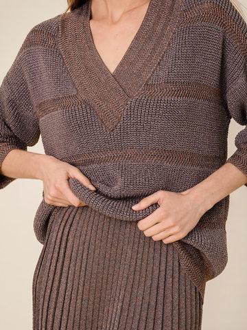 Женский джемпер коричневого цвета из вискозы - фото 3