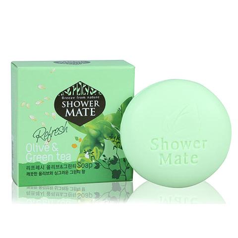 Shower Mate Мыло с экстрактом оливки и зеленого чая Fresh Olive & Green Tea 100 г.