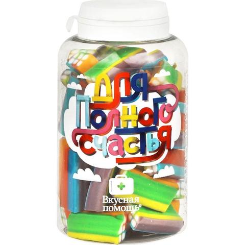 Мармелад жевательный  Для полного счастья 250 мл (блоки цветные в сахаре)