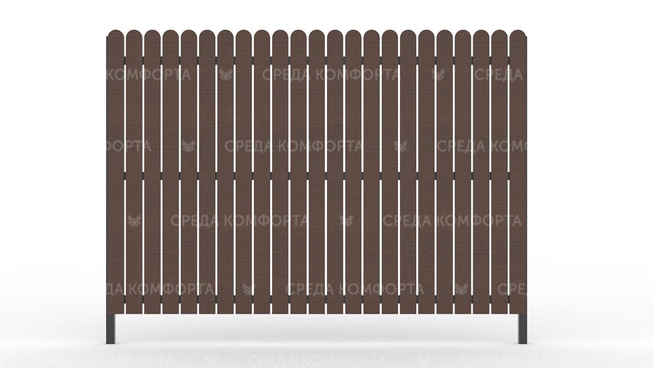 Деревянный забор ZBR0005