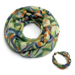 Хлопковый шарф-ожерелье