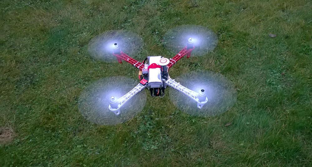 Квадрокоптер Беллини v.0.3.0 в воздухе