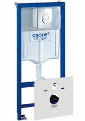 Система инсталляции GROHE RAPID SL 38750 001 для подвесного унитаза, 4 в 1