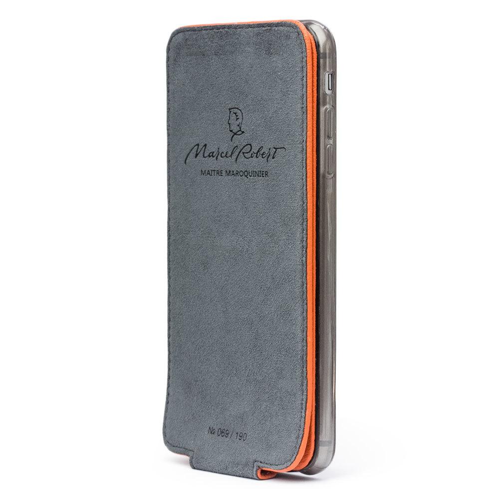 Чехол для iPhone 6/6S из натуральной кожи теленка, оранжевого цвета