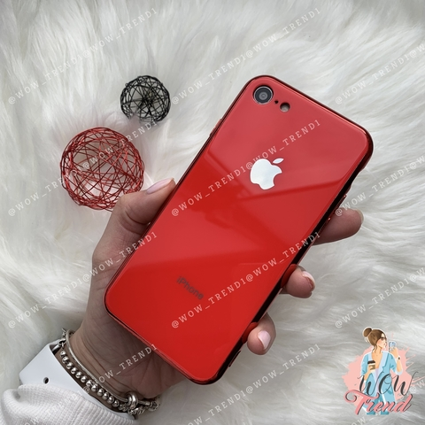 Чехол iPhone 6/6S Glass Case Logo /red/