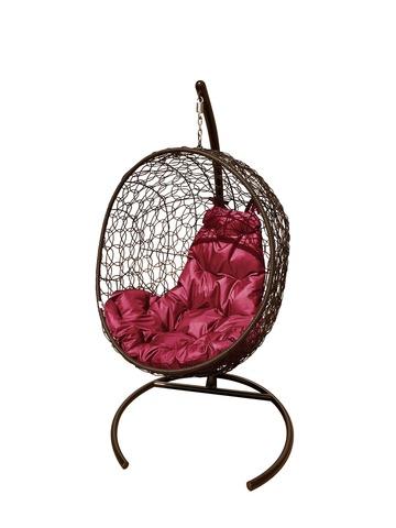 Кресло подвесное Porto brown/burgundy