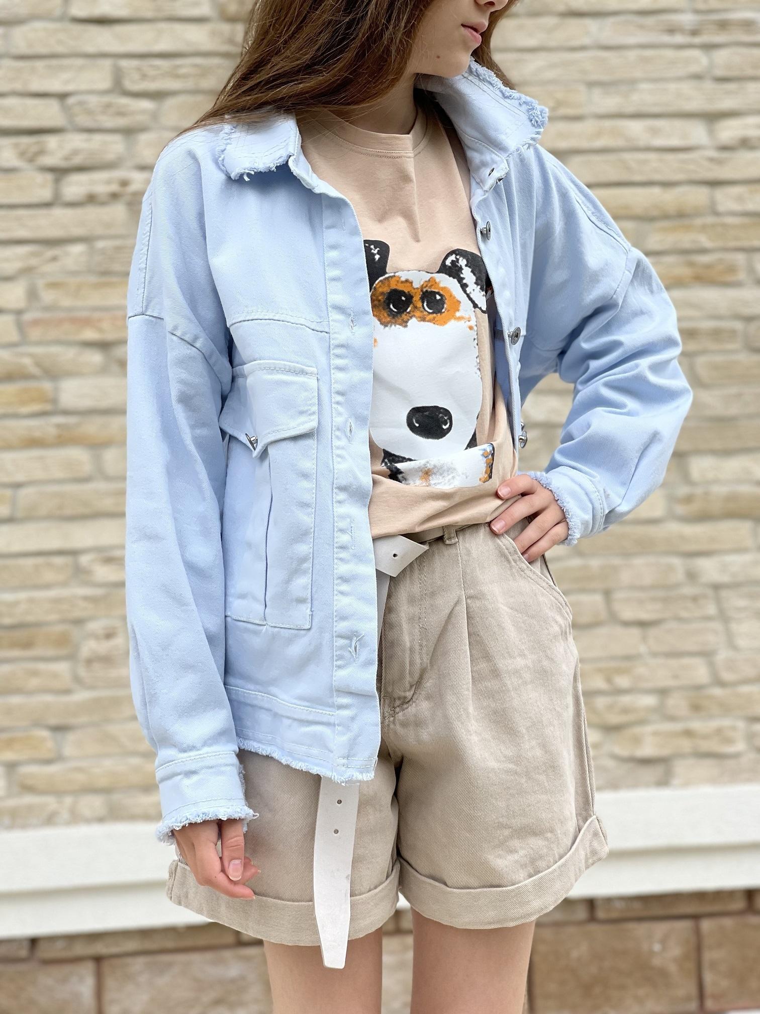 Джинсовая рубашка, UNO, 5167 (небесный)