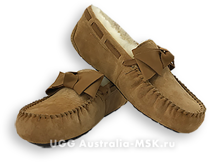 UGG Dakota Leather Bow Brown