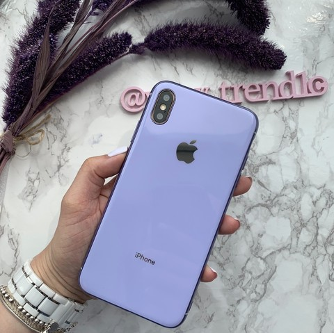 Чехол iPhone XS MAX Glass Silicone Case Logo /glycine/
