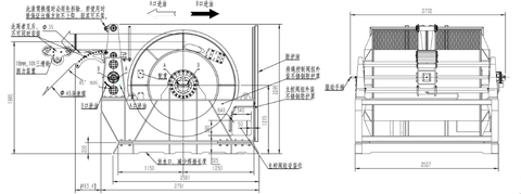 Гидравлическая лебедка IYJ355-50-2000-35DP