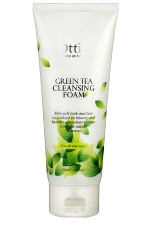 Ottie Пенка для умывания с зеленым чаем Green Tea Cleansing Foam 150 мл