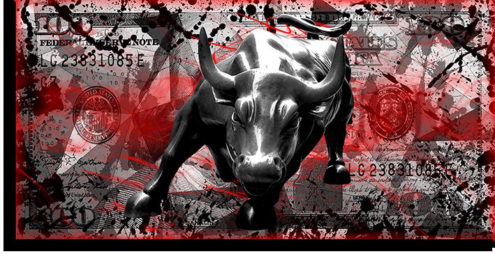 """Постеры Постер """"Черный бык на долларе"""" п0451.png"""