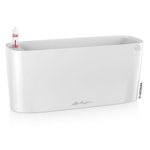 15460 Кашпо LECHUZA Дельта 10 Белое с системой полива