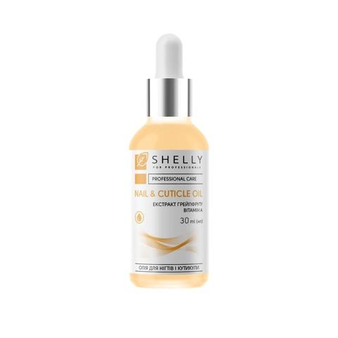Олія для нігтів і кутикули з екстрактом грейпфруту та вітаміном А Shelly 30 мл (1)