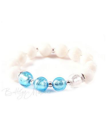 Браслет Murano Flex бело-голубой