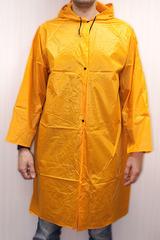 Дождевик нейлоновый без карманов на кнопках желтый