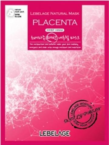 Тканевая маска с плацентой  LEBELAGE Natural mask