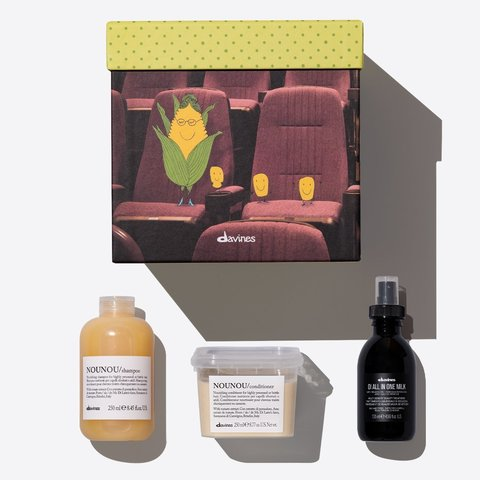 Набор NOUNOU Gift box для сухих или химически поврежденных волос (NOUNOU/шампунь 250 мл, NOUNOU/кондиционер 250 мл, OI многофункциональное молочко 135 мл)