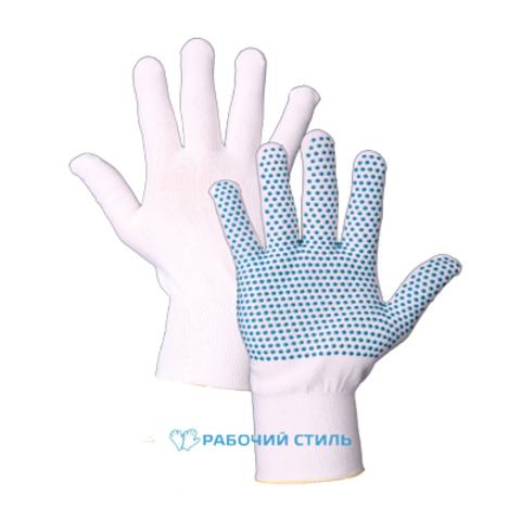 Перчатки нейлоновые с ПВХ , 15 класс