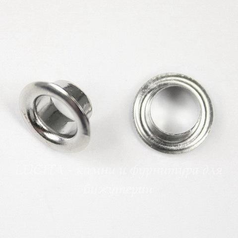 Сердцевина для бусины (цвет - платина) 8х3,5 мм, 5 пар