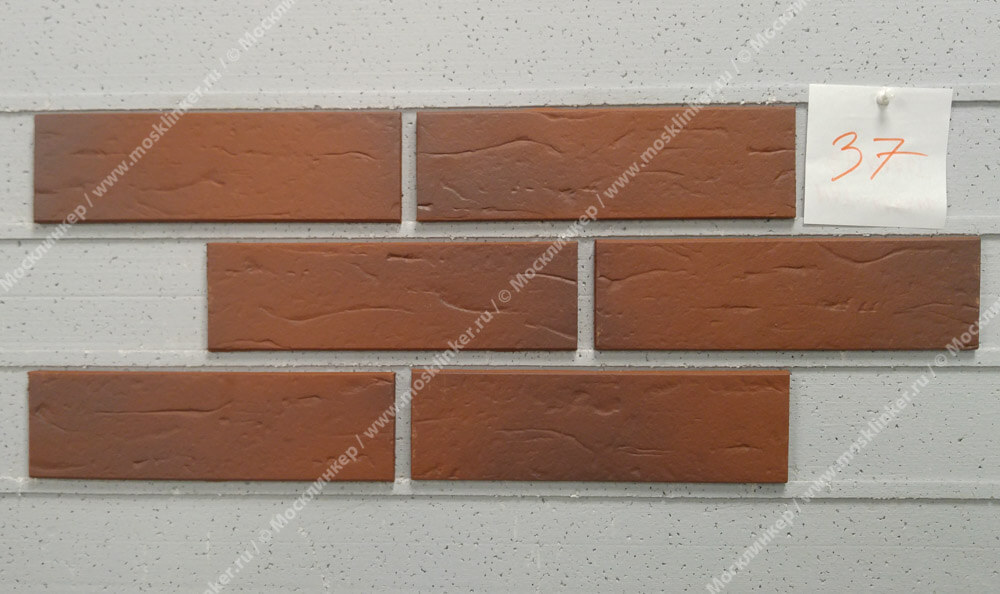 ABC - Naturbrand, genarbt, 240х71х10, NF - Клинкерная плитка для фасада и внутренней отделки