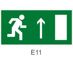 Знак Е11 направления к эвакуационному выходу прямо (правосторонний)