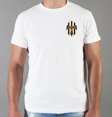 Футболка с принтом FC Juventus (ФК Ювентус) белая 0012
