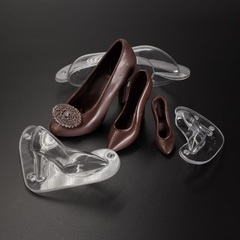 Поликарбонатная форма для шоколада  3D ТУФЕЛЬКА МИНИ РАЗМЕР 70х60мм
