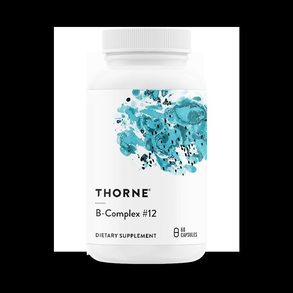 Комплекс витаминов B, B-COMPLEX #12, Thorne Research, NSF Certified for Sport (60 капсул)