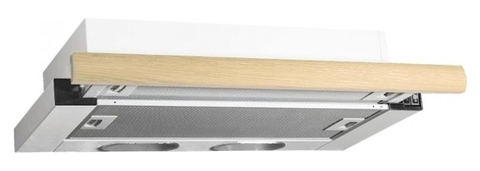 Вытяжка встраиваемая Elikor Интегра 60П-400-В2Л белый/дуб неокрашенный управление: кнопочное (1 мотор)
