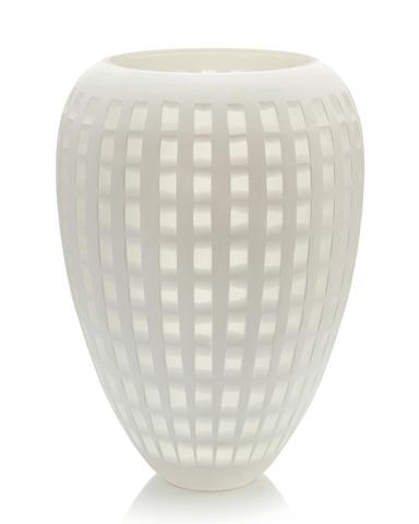 Cloud White Square-Cut Vase