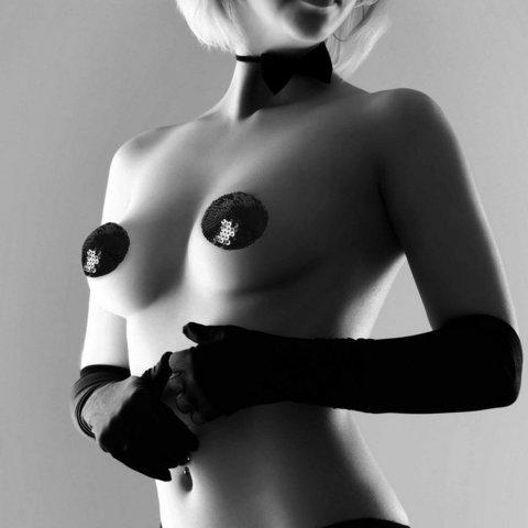Bijoux Indiscrets Burlesque Pasties - Sequin Украшение на грудь черное