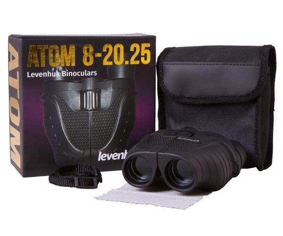 Бинокль Levenhuk Atom 8–20x25 - фото 2 - комплект поставки