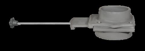 Чугунный шиберный блок ф150