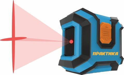 Нивелир лазерный линейный ПРАКТИКА НЛ-2Л, горизонтальная и вертикальная линии, видимость до 10 м