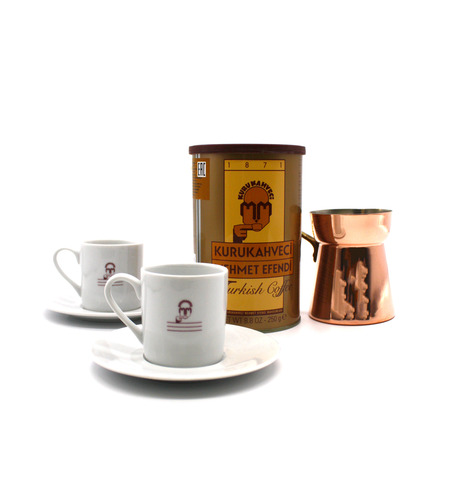 Подарочный набор Mehmet Efendi (кофе молотый 250 г, турка и чашки)